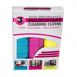 MicroFibre Cleaning Cloths - Pack 3