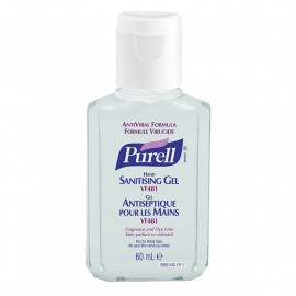 Purell VF481 Anti-Viral Sanitiser - Single 60ml Flip Bottle