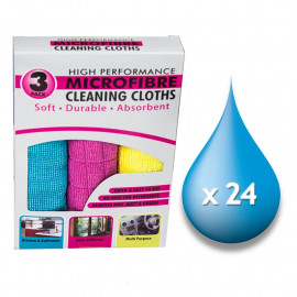 MicroFibre Cleaning Cloths - Pack 3 x 24