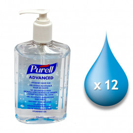 Purell Advanced Instant Hand Sanitiser - 12 x 350ml Pump Bottles