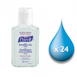 Purell VF481 Anti-Viral Sanitiser - Case of 24 x 60ml Flip Bottles