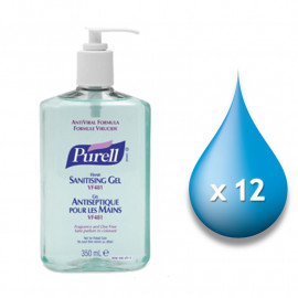 Purell VF481 Anti-Viral Sanitiser - 12 x 350ml Pump Bottles
